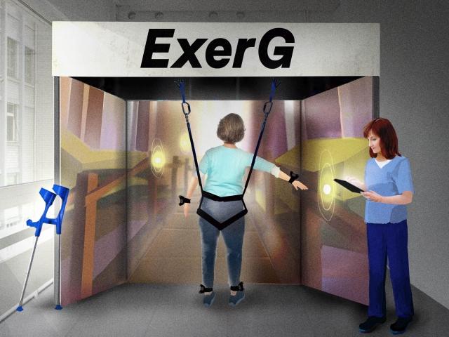 patient in ExerCube
