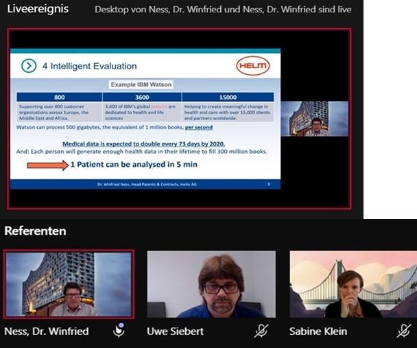 Screenshot VASCage virtual consortiummeeting